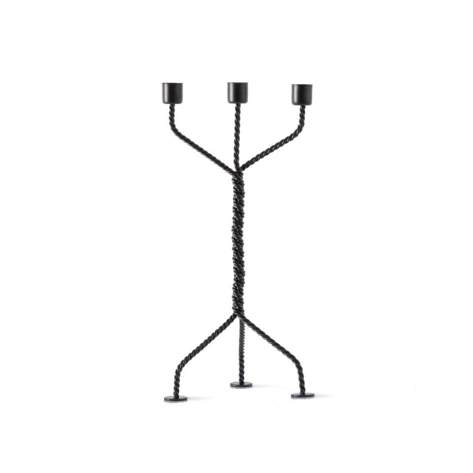 TC001_Werkwaardig_twistedcandleholder_black_front_low