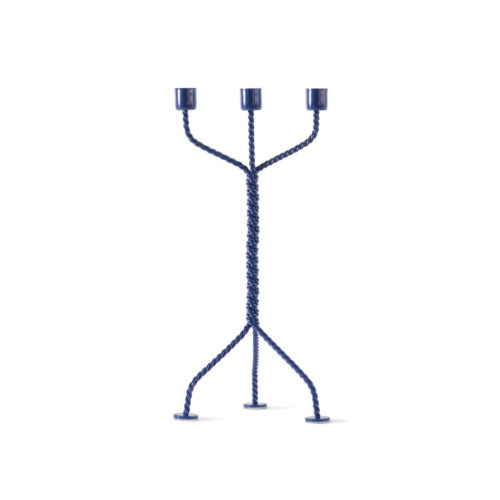 Twisted Candleholder Blue