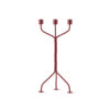 Twisted Candleholder Red